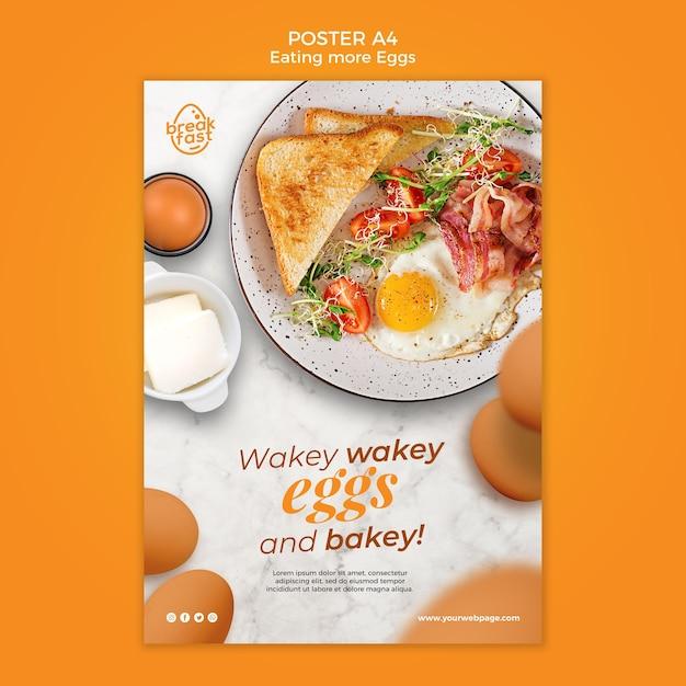 Modello di poster di uova e bakey Psd Gratuite