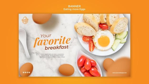 Modello della bandiera di uova e pomodorini Psd Gratuite