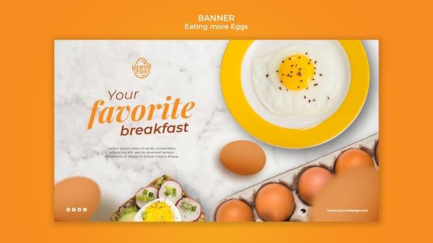Modello di banner colazione preferita di uova Psd Gratuite