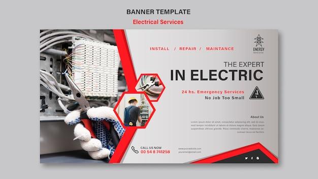 Stile banner servizi elettrici Psd Gratuite