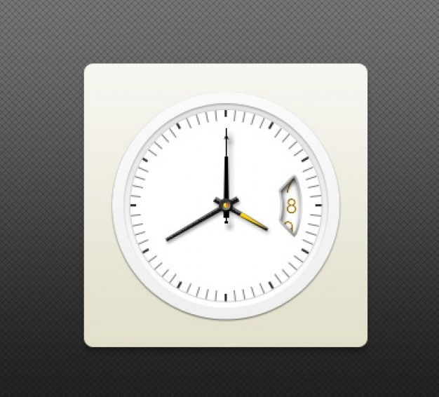 Elegan watches with gold pointer Free Psd