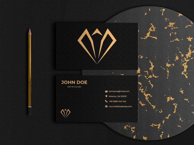 Элегантная и роскошная двусторонняя визитка Premium Psd