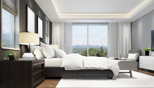 Элегантный интерьер спальни Бесплатные Psd