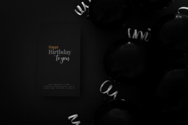 Elegant birthday invitation template Free Psd
