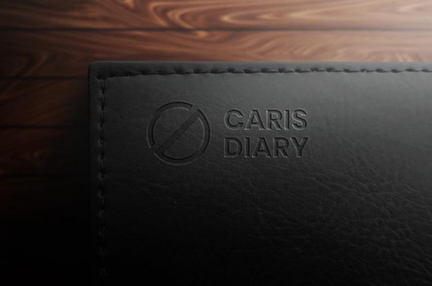우아한 검은 색 노트북 로고 이랑 프리미엄 PSD 파일
