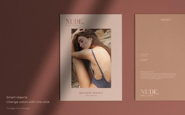 Elegant brochure mockup with soft shadow Free Psd