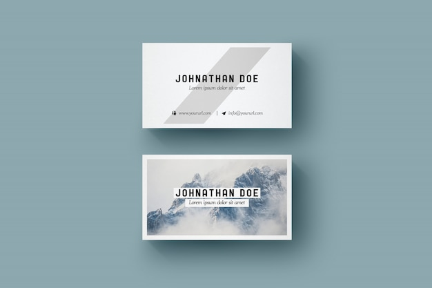 Elegant Business Card Mock Up Free Psd