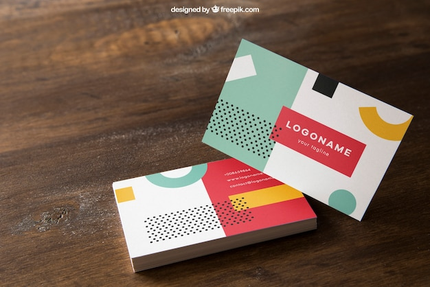 Elegant Business Card Mockup Free Psd