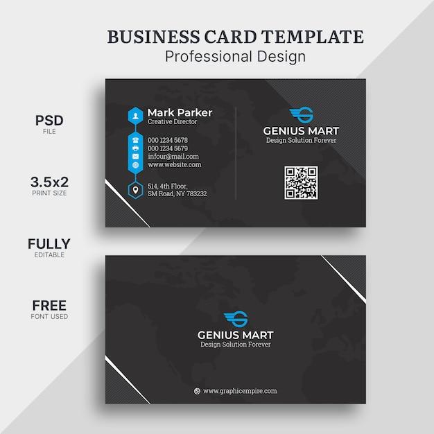 Elegant business card template Premium Psd