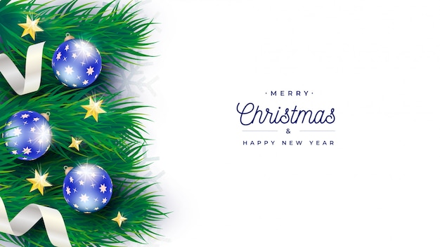 Elegant christmas tree banner template Free Psd