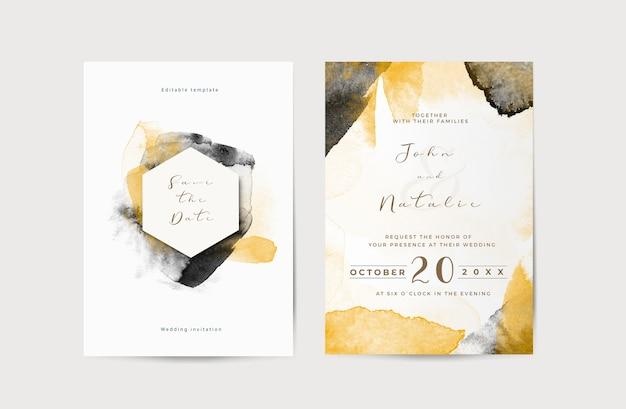 Elegant engagement wedding invitation template Free Psd