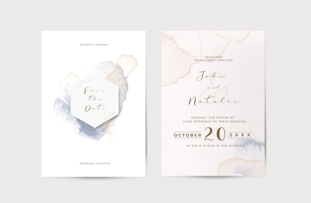 Elegant engagement wedding invitation template Free Psd
