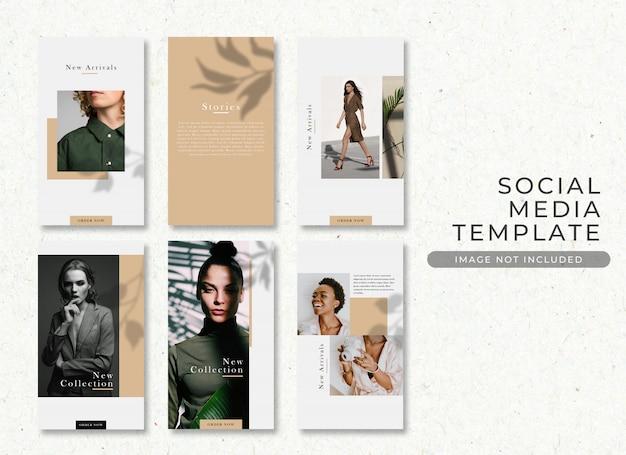 Elegant fashion sale instagram story post template premium psd