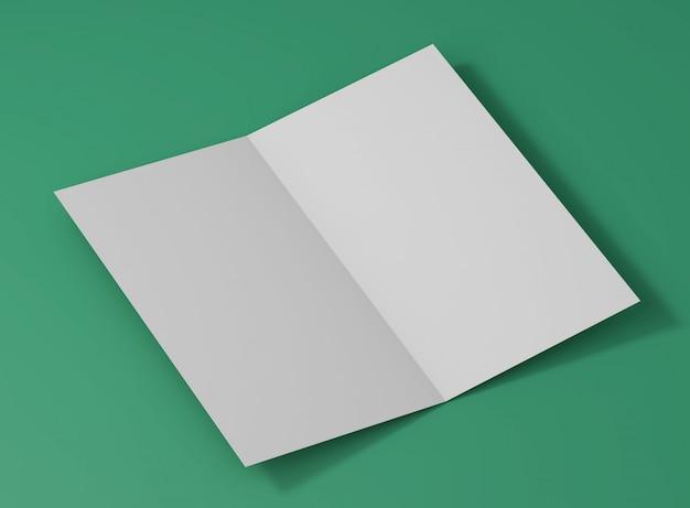 Elegant folded card studio mockup Free Psd