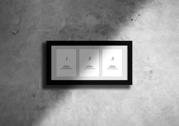 Elegant frames mock-up with shadow PSD file | Free Download