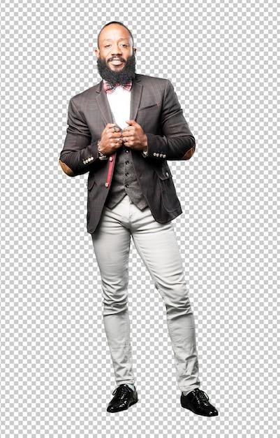 Elegant full body black man isolated Premium Psd