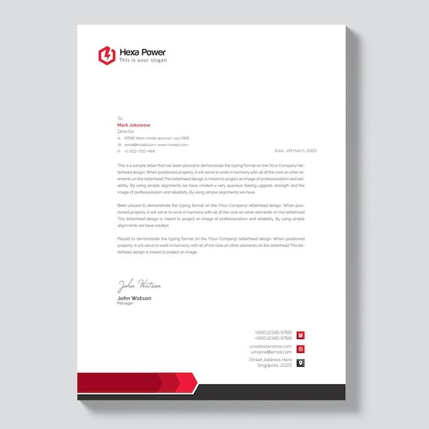 Elegant Letterhead Mockup Premium Psd