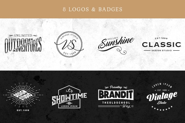 Elegant logo collection Free Psd