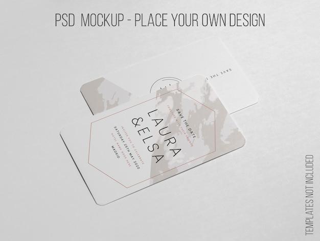 Elegante layout minimalista del mockup di biglietti da visita Psd Gratuite