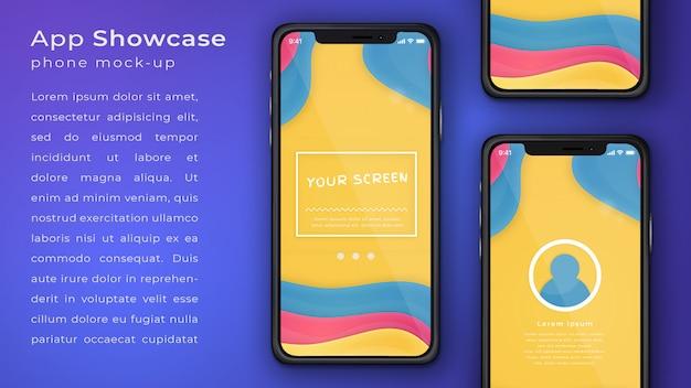 Elegant phone application mock up display Premium Psd
