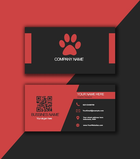 Elegant red business card Premium Psd