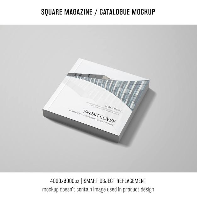 Elegant square magazine or catalogue mockup Free Psd