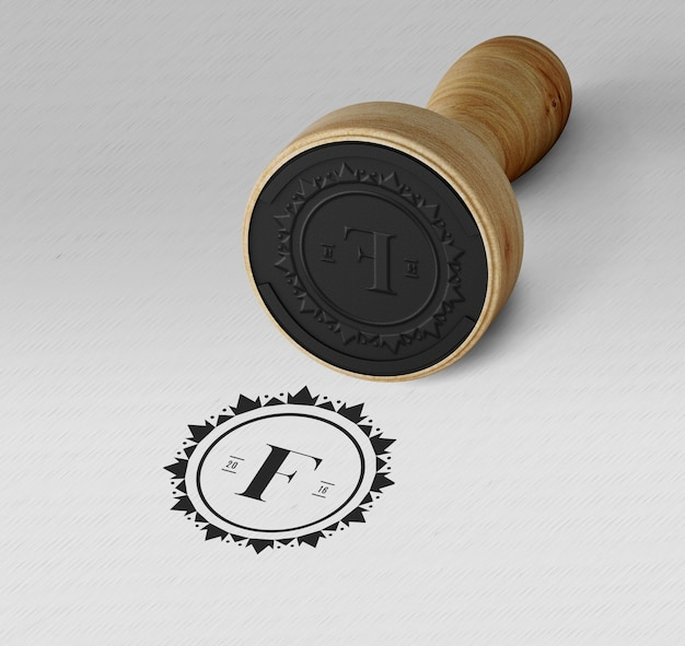 Elegant stamp or badge mockup Free Psd