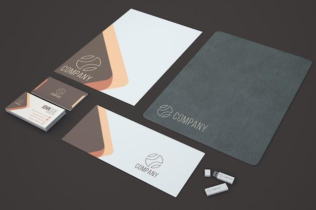 elegant stationery showcase psd file free download