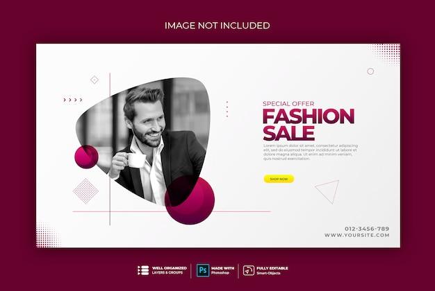 Elegant style web banner template sweatshirt Premium Psd