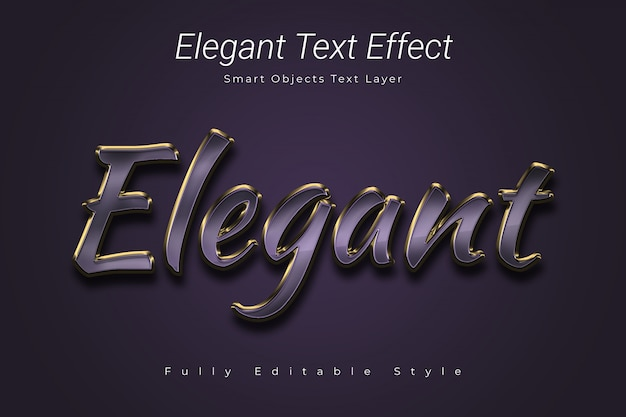Elegant text effect Premium Psd