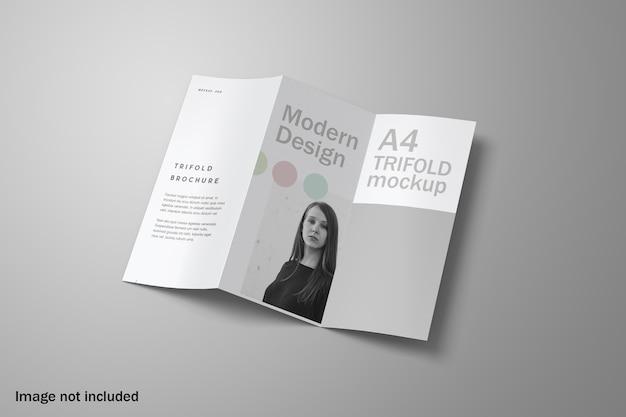 エレガントな三つ折りパンフレットのモックアップ Premium Psd
