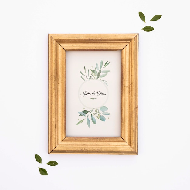 Elegant wedding frame Free Psd
