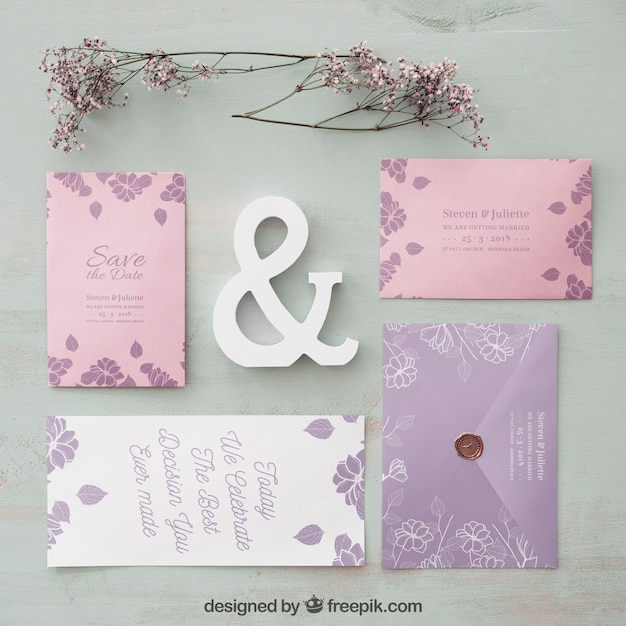 Elegant Wedding Invitation Mockup Psd File Free Download