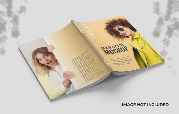 Elengant 표지 및 뒷면 표지 잡지 모형 프리미엄 PSD 파일