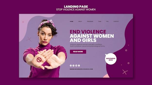 Eliminazione della violenza contro le donne modello di pagina di destinazione Psd Gratuite