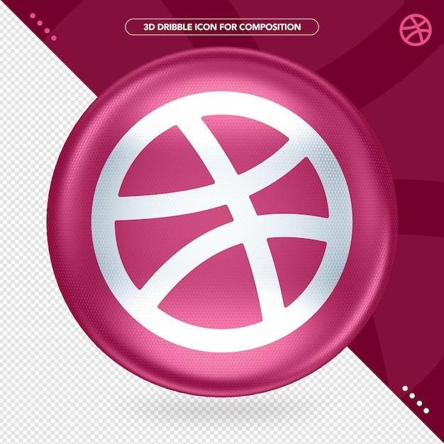 Ellipse 3d color dribbbleロゴ Premium Psd