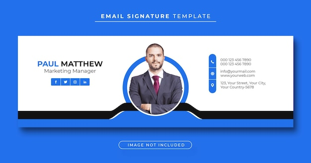 Email signature template or email footer and personal facebook cover Premium Psd