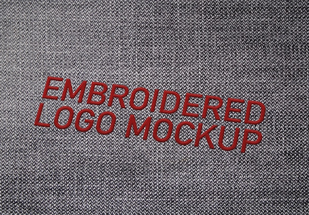 Embroidered logo mockup Premium Psd