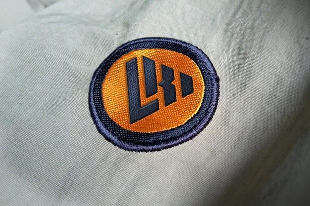 Макет логотипа вышивки Premium Psd