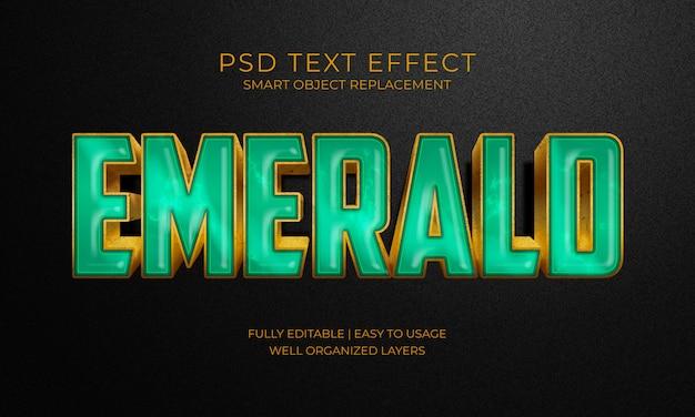 エメラルドグリーンストーンのテキストエフェクト Premium Psd