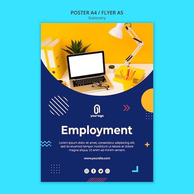 고용 사업 포스터 템플릿 무료 PSD 파일