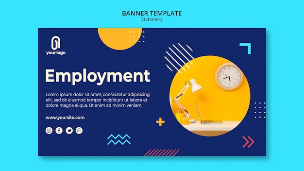 Employment concept banner web template Free Psd