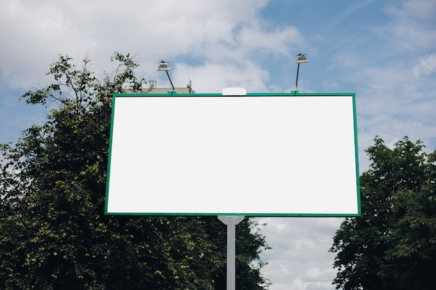 Empty billboard in the city Free Psd