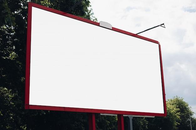 Empty billboard in the city Free Psd