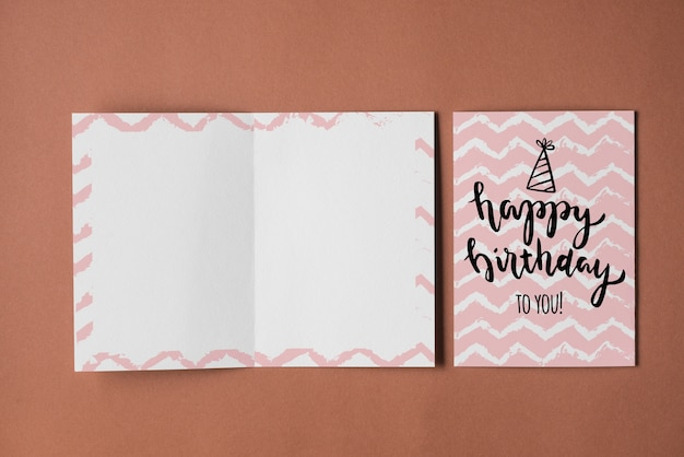 Empty Birthday Card Mockup Psd File Free Download