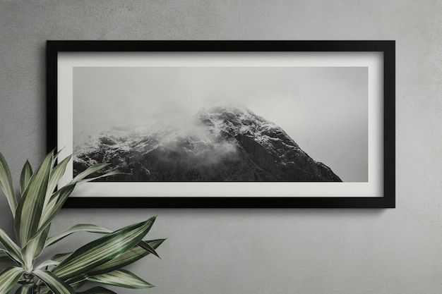 Empty frame on a wall Free Psd