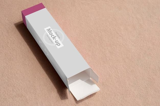 Пустая коробка цвета волос уложена макет Premium Psd
