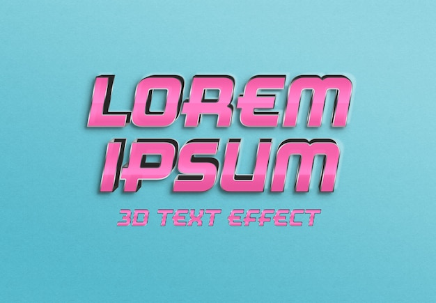 Empty pink 3d text effect Premium Psd