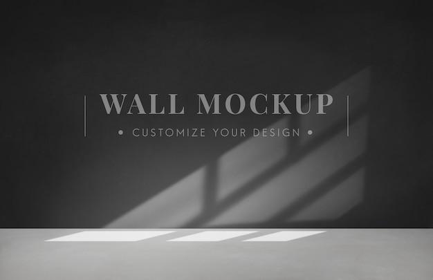 Stanza vuota con un mockup di muro grigio scuro Psd Gratuite