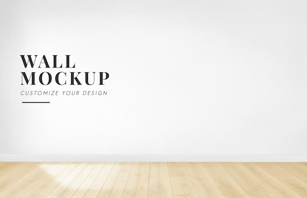 Free Psd Empty Room With A White Wall Mockup